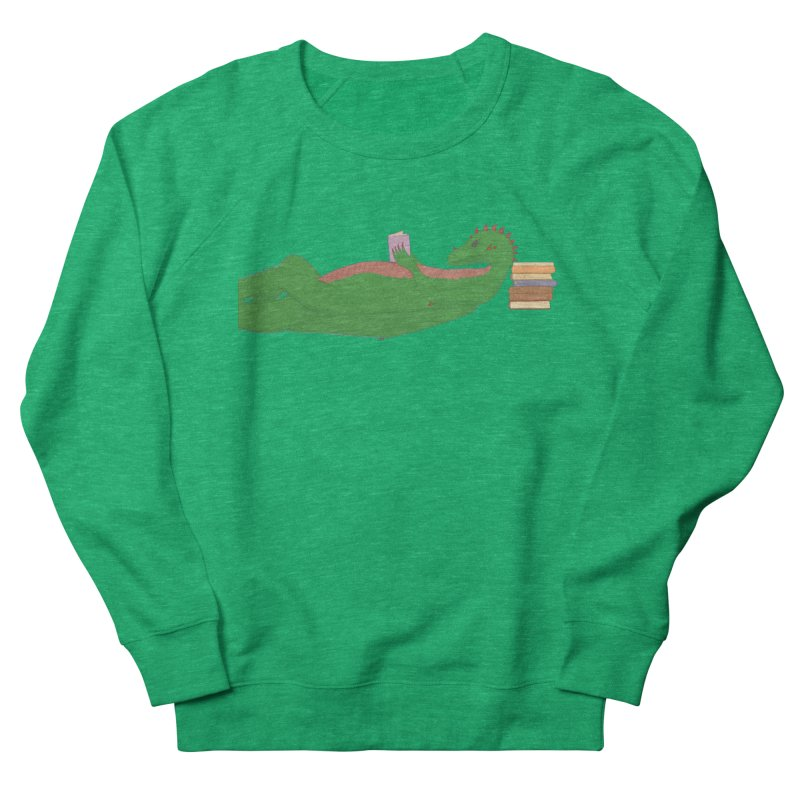 Dragon Reader Women's Sweatshirt by wchwriter's Artist Shop