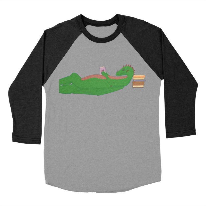Dragon Reader Men's Baseball Triblend Longsleeve T-Shirt by wchwriter's Artist Shop
