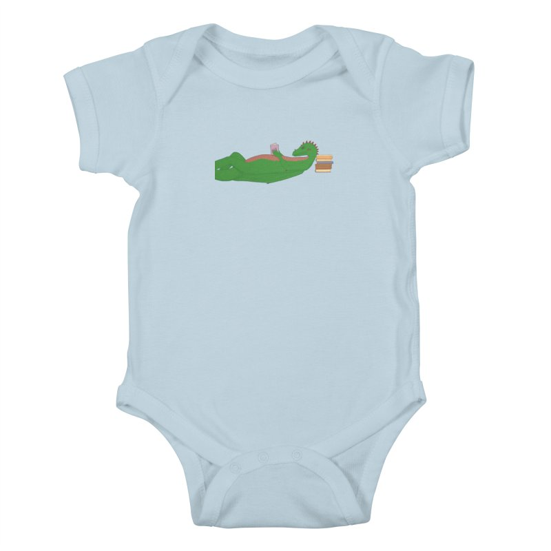 Dragon Reader Kids Baby Bodysuit by wchwriter's Artist Shop