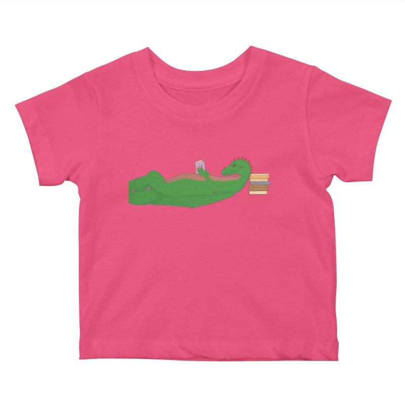 Dragon Reader Kids Baby T-Shirt by wchwriter's Artist Shop