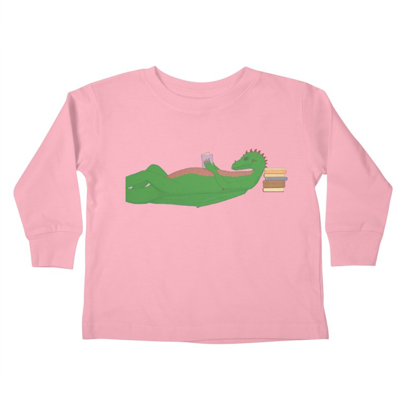 Dragon Reader Kids Toddler Longsleeve T-Shirt by wchwriter's Artist Shop