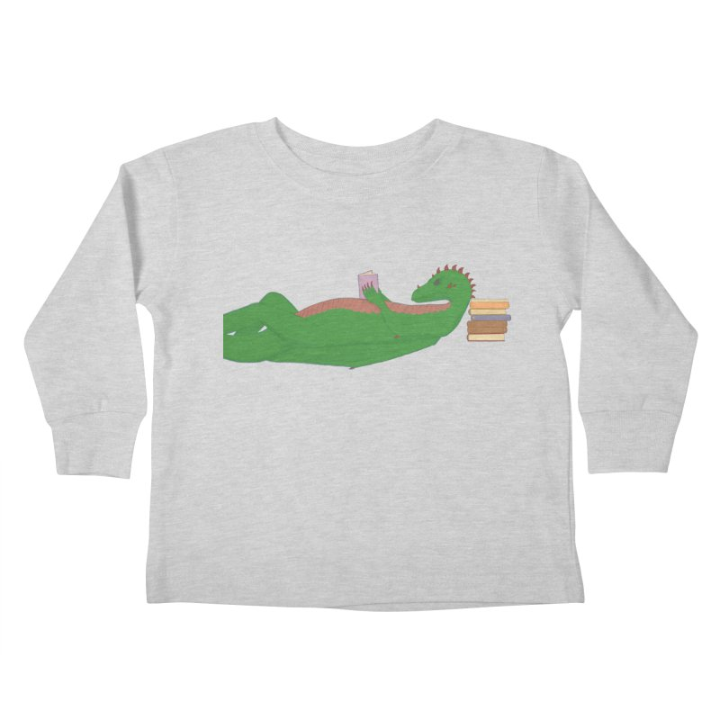 Dragon Reader Kids Toddler Longsleeve T-Shirt by wchwriter's Artist Shop