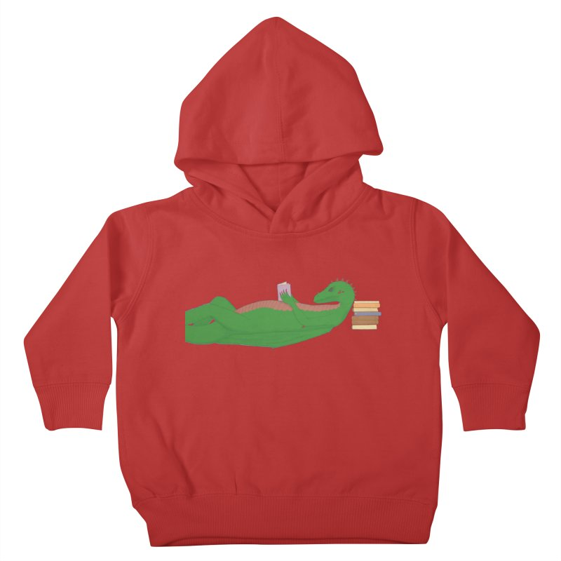Dragon Reader Kids Toddler Pullover Hoody by wchwriter's Artist Shop