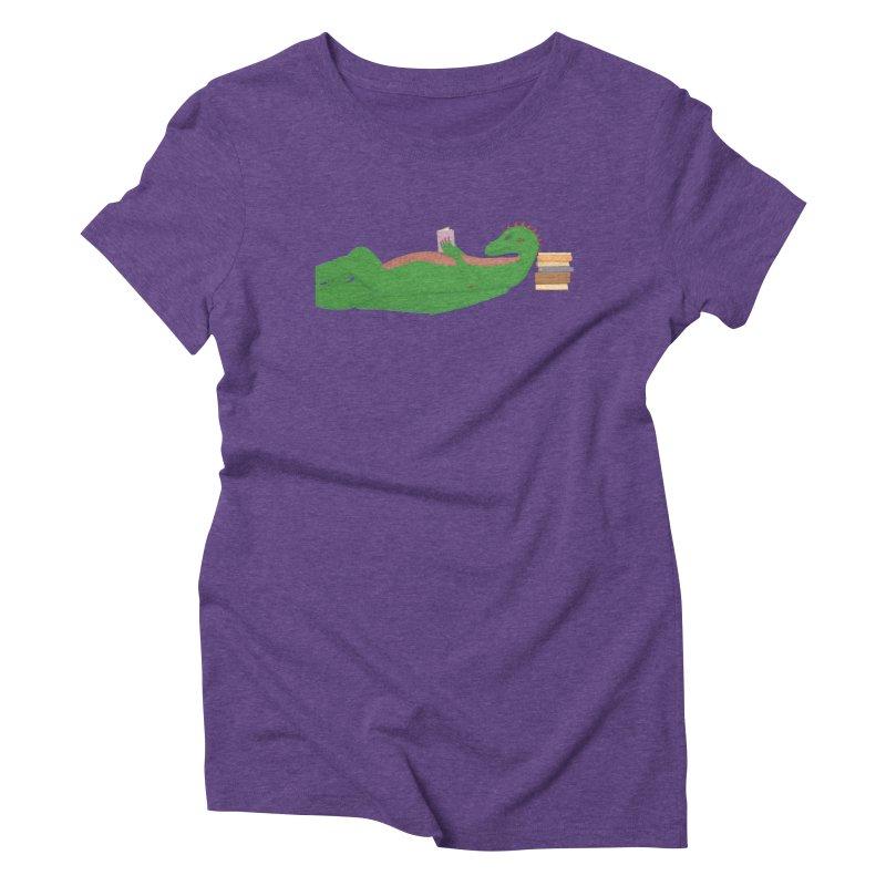 Dragon Reader Women's Triblend T-Shirt by wchwriter's Artist Shop