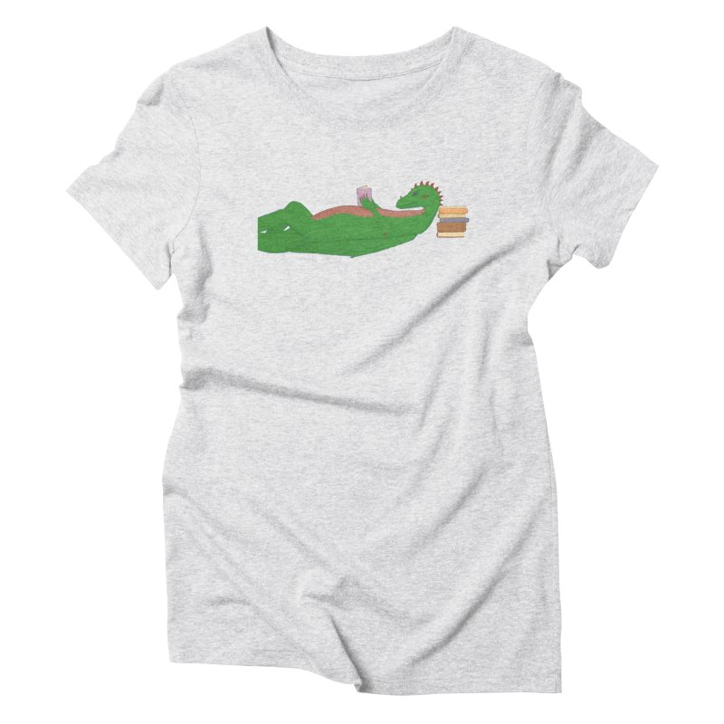 Dragon Reader Women's T-Shirt by wchwriter's Artist Shop