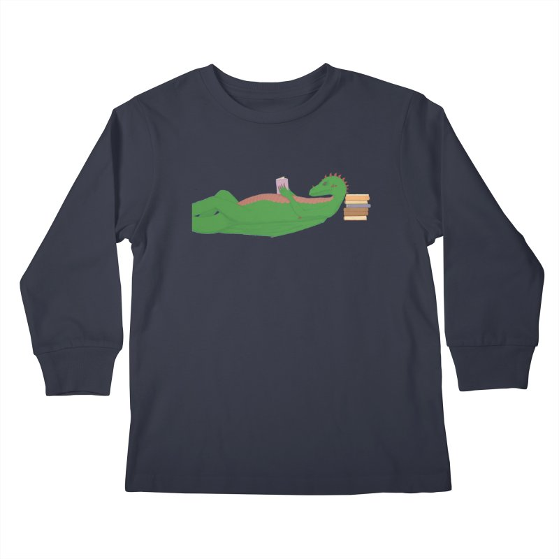 Dragon Reader Kids Longsleeve T-Shirt by wchwriter's Artist Shop