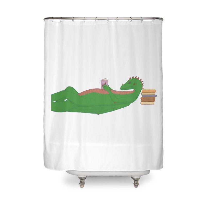 Dragon Reader Home Shower Curtain by wchwriter's Artist Shop