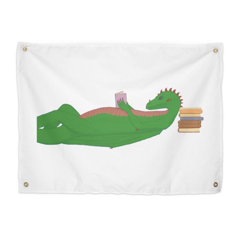 Dragon Reader Home Tapestry by wchwriter's Artist Shop