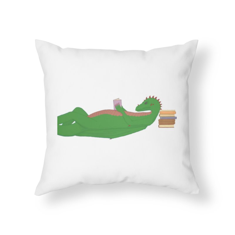 Dragon Reader Home Throw Pillow by wchwriter's Artist Shop