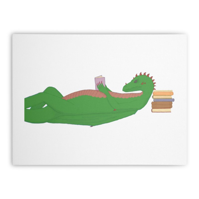 Dragon Reader Home Stretched Canvas by wchwriter's Artist Shop