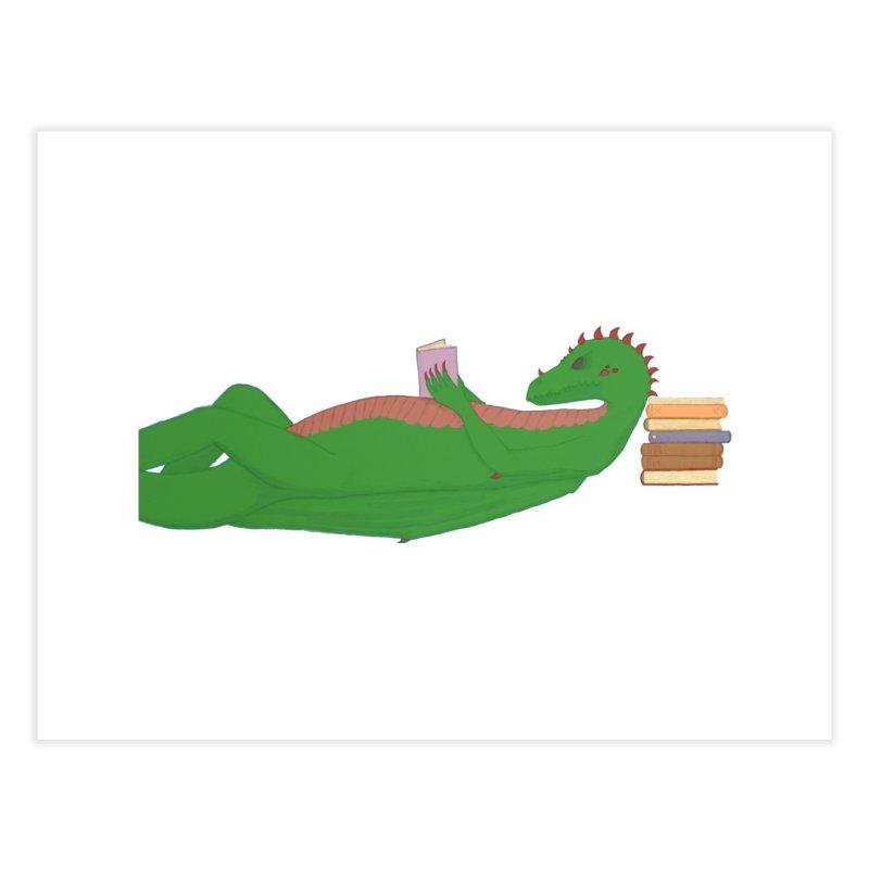 Dragon Reader Home Fine Art Print by wchwriter's Artist Shop