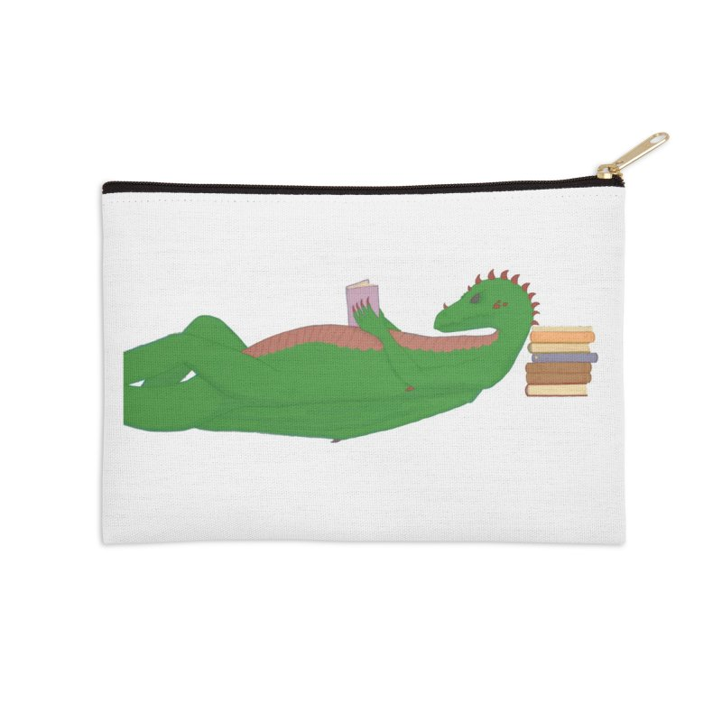 Dragon Reader Accessories Zip Pouch by wchwriter's Artist Shop