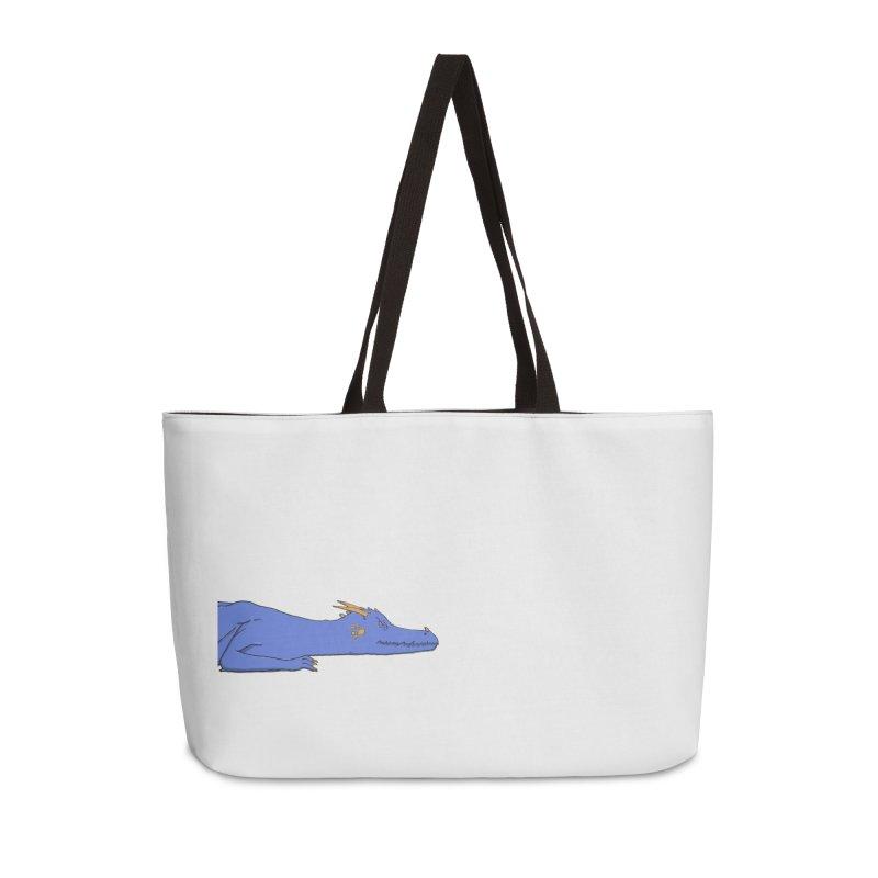 Dragon Resting Accessories Weekender Bag Bag by wchwriter's Artist Shop