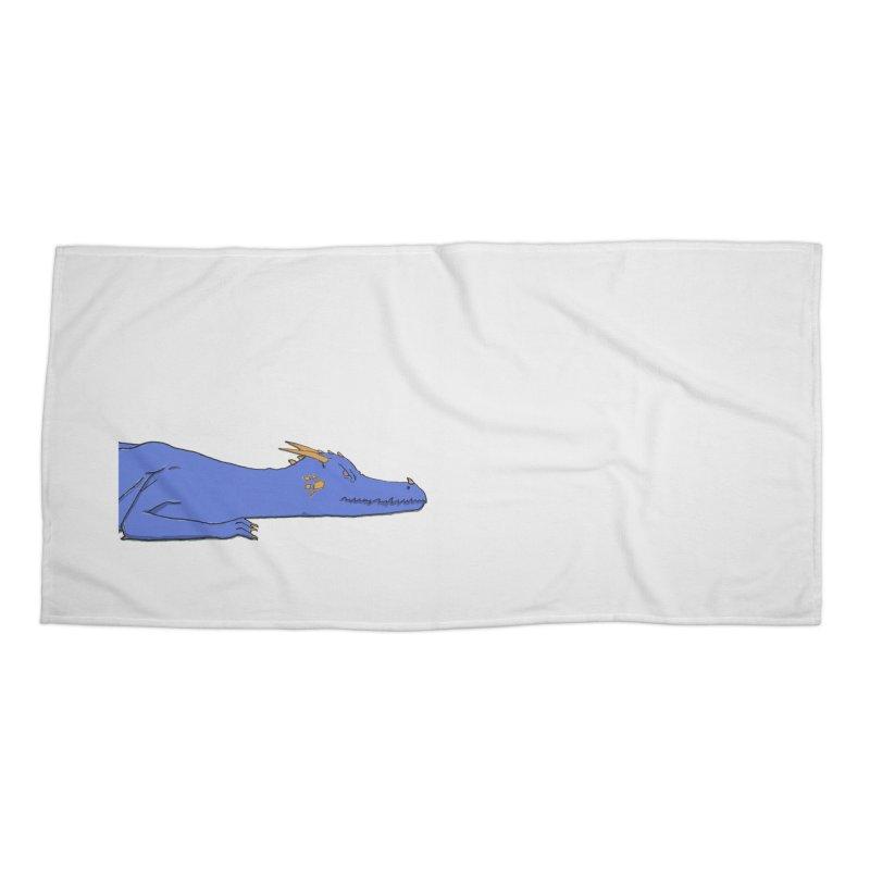Dragon Resting Accessories Beach Towel by wchwriter's Artist Shop