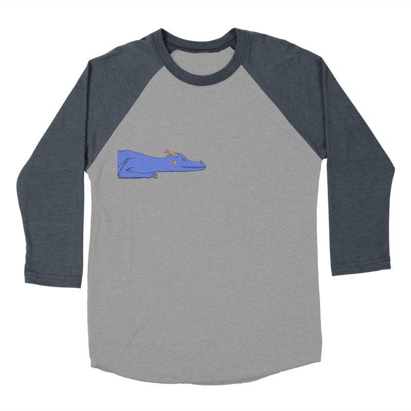 Dragon Resting Women's Baseball Triblend Longsleeve T-Shirt by wchwriter's Artist Shop