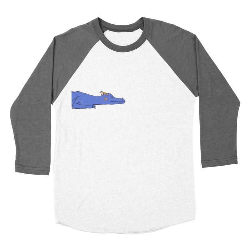 Dragon Resting Men's Baseball Triblend Longsleeve T-Shirt by wchwriter's Artist Shop
