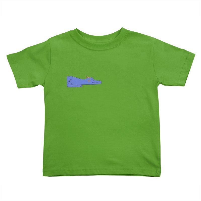 Dragon Resting Kids Toddler T-Shirt by wchwriter's Artist Shop
