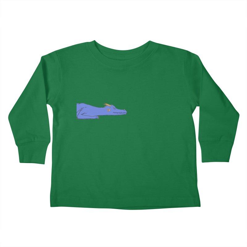 Dragon Resting Kids Toddler Longsleeve T-Shirt by wchwriter's Artist Shop