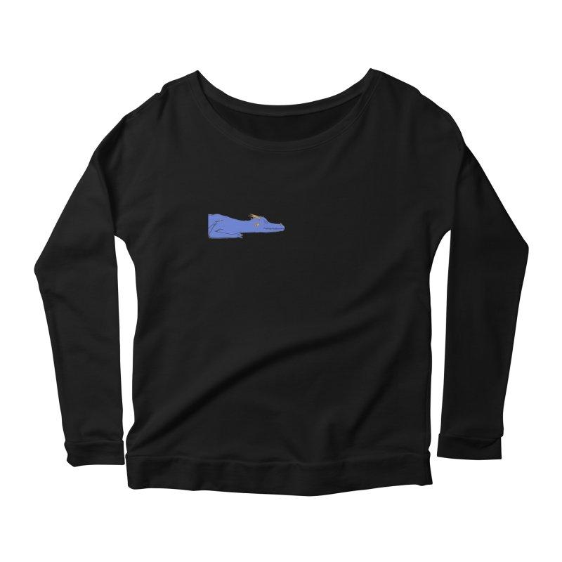 Dragon Resting Women's Scoop Neck Longsleeve T-Shirt by wchwriter's Artist Shop