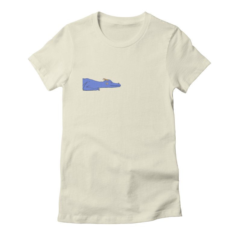 Dragon Resting Women's Fitted T-Shirt by wchwriter's Artist Shop