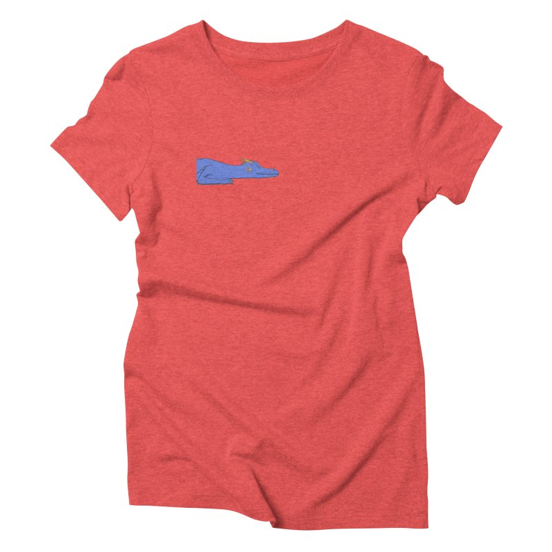 Dragon Resting Women's Triblend T-Shirt by wchwriter's Artist Shop
