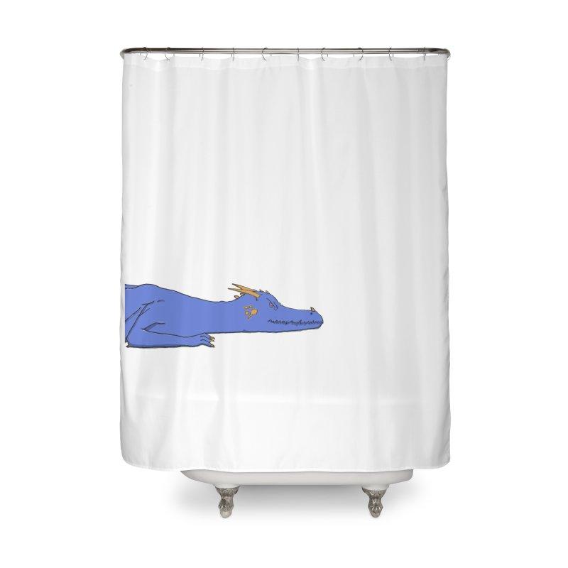 Dragon Resting Home Shower Curtain by wchwriter's Artist Shop