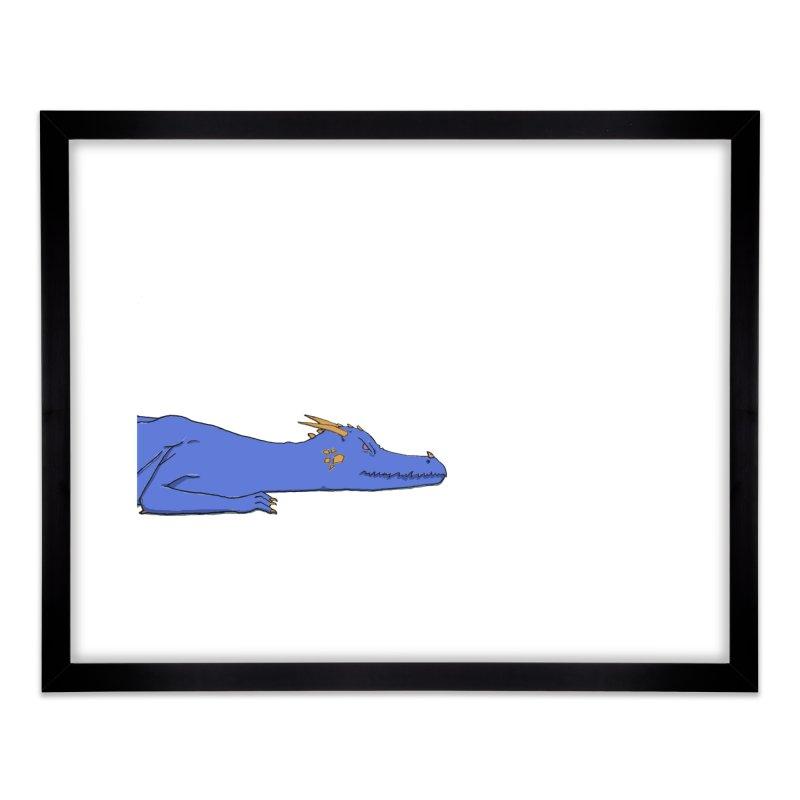 Dragon Resting Home Framed Fine Art Print by wchwriter's Artist Shop