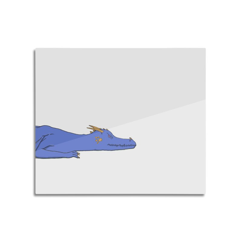 Dragon Resting Home Mounted Aluminum Print by wchwriter's Artist Shop
