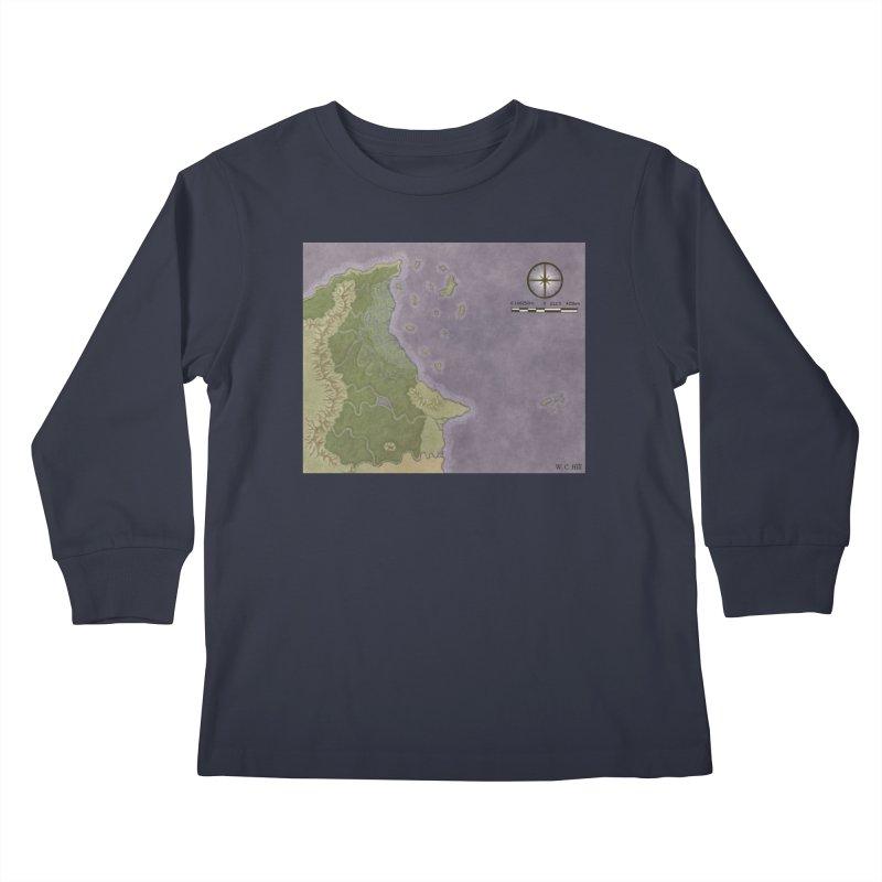 North Eastern Verlese Kids Longsleeve T-Shirt by wchwriter's Artist Shop