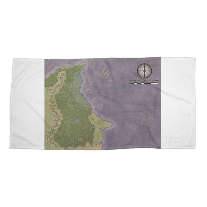 North Eastern Verlese Accessories Beach Towel by wchwriter's Artist Shop