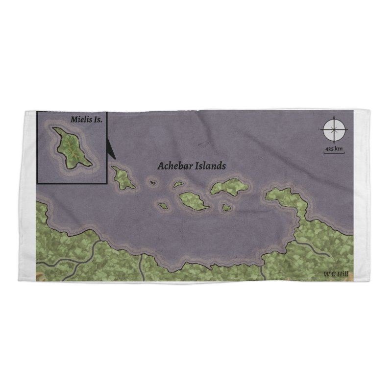 Achebar Islands Accessories Beach Towel by wchwriter's Artist Shop