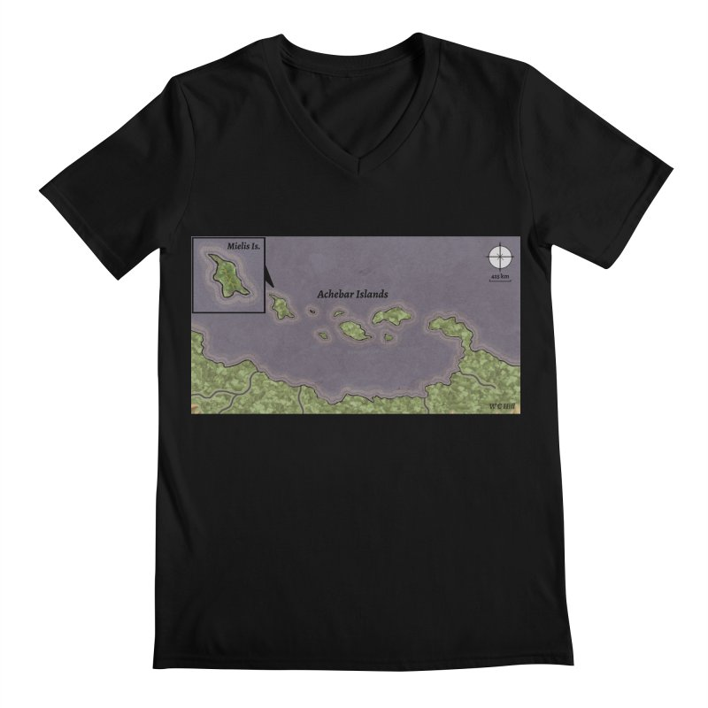 Achebar Islands Men's Regular V-Neck by wchwriter's Artist Shop