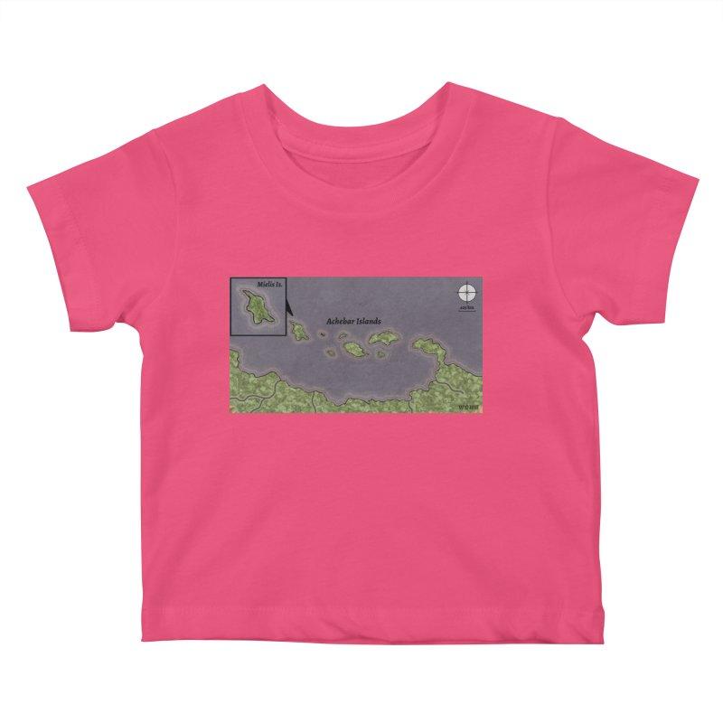 Achebar Islands Kids Baby T-Shirt by wchwriter's Artist Shop