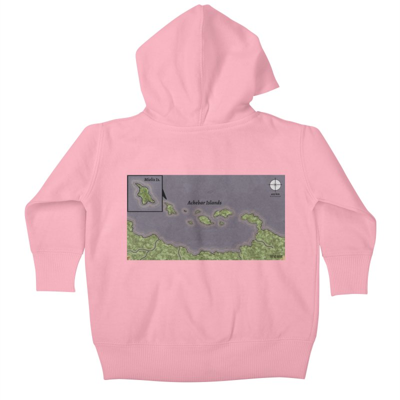 Achebar Islands Kids Baby Zip-Up Hoody by wchwriter's Artist Shop