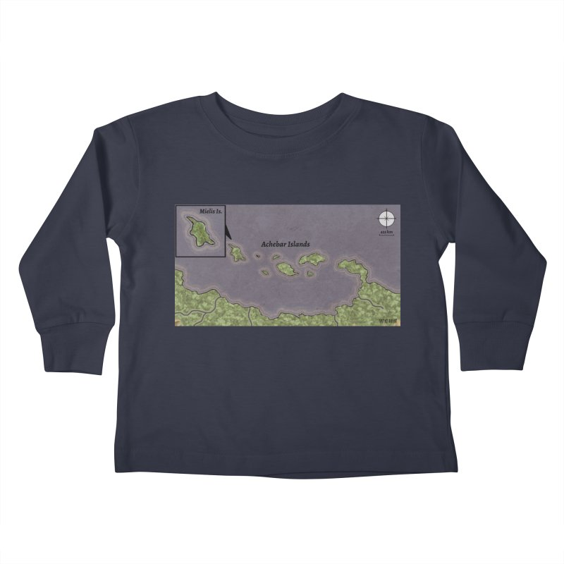 Achebar Islands Kids Toddler Longsleeve T-Shirt by wchwriter's Artist Shop