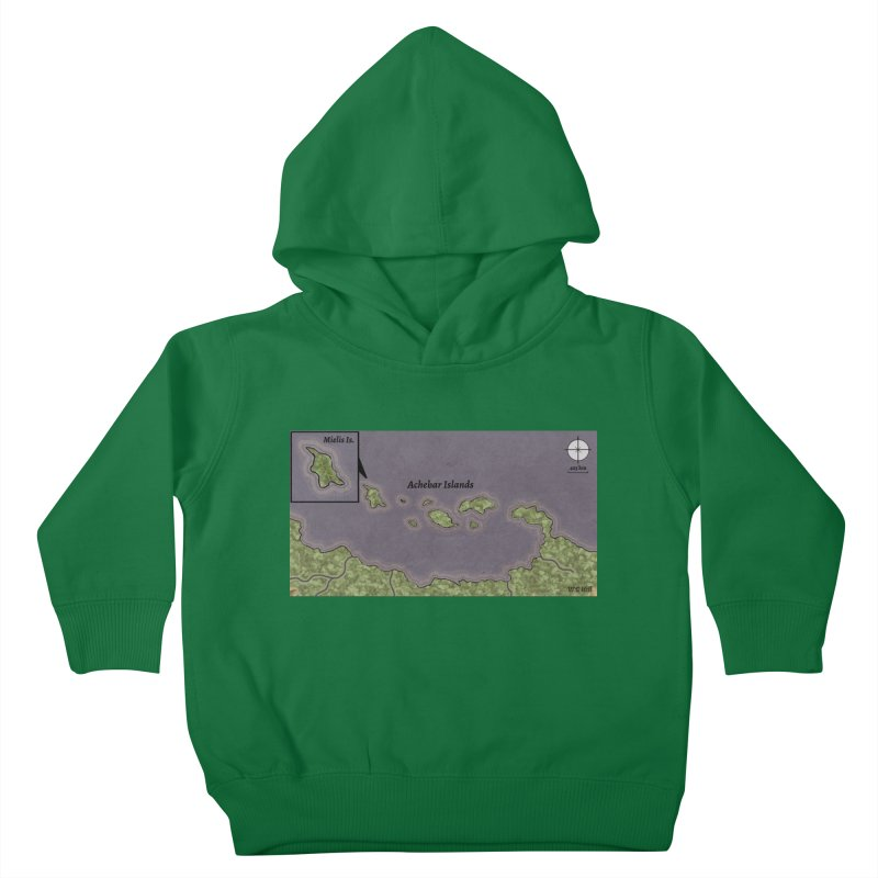 Achebar Islands Kids Toddler Pullover Hoody by wchwriter's Artist Shop