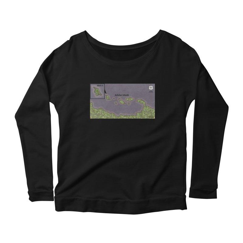 Achebar Islands Women's Scoop Neck Longsleeve T-Shirt by wchwriter's Artist Shop