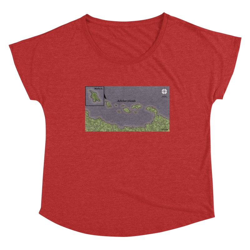Achebar Islands Women's Scoop Neck by wchwriter's Artist Shop