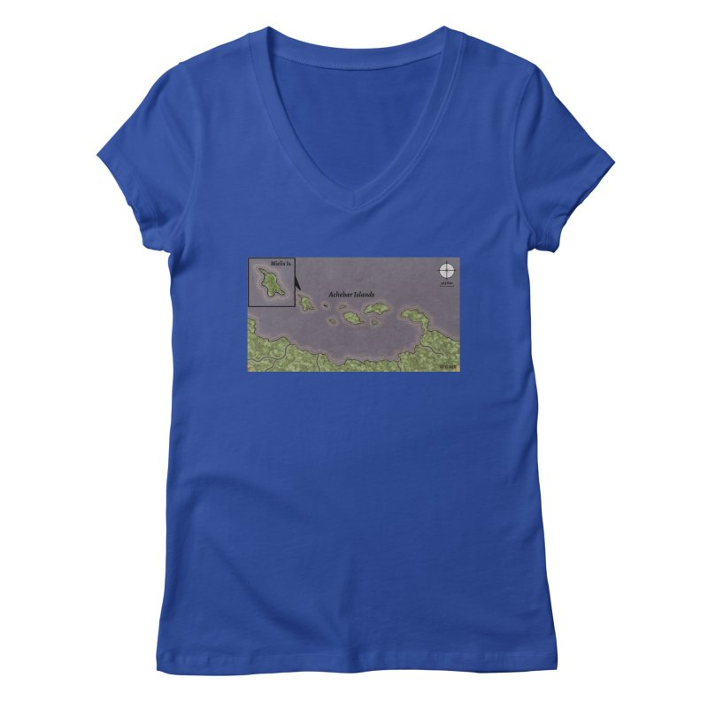 Achebar Islands Women's Regular V-Neck by wchwriter's Artist Shop