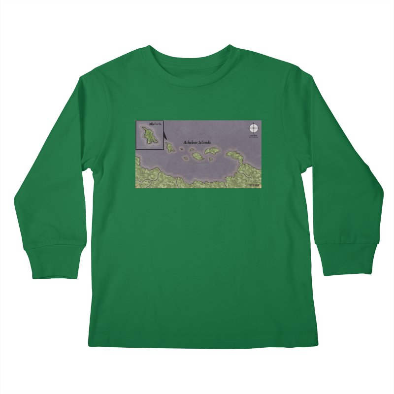 Achebar Islands Kids Longsleeve T-Shirt by wchwriter's Artist Shop
