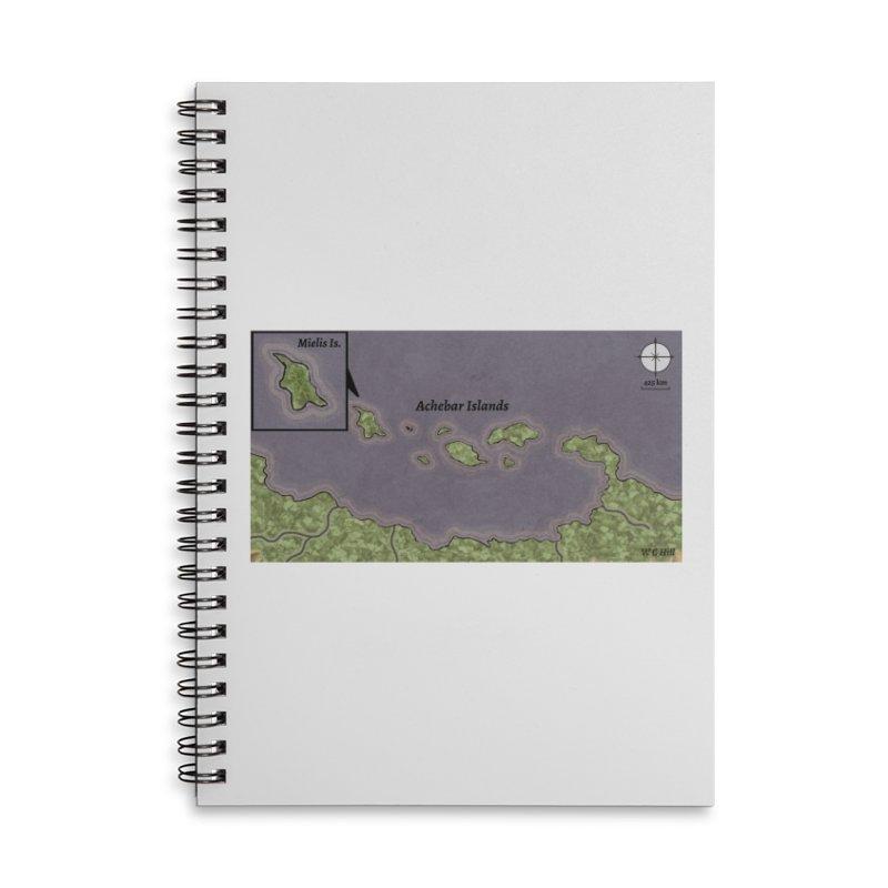 Achebar Islands Accessories Lined Spiral Notebook by wchwriter's Artist Shop