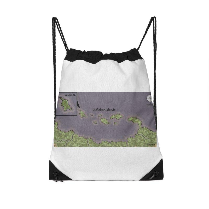 Achebar Islands Accessories Drawstring Bag Bag by wchwriter's Artist Shop