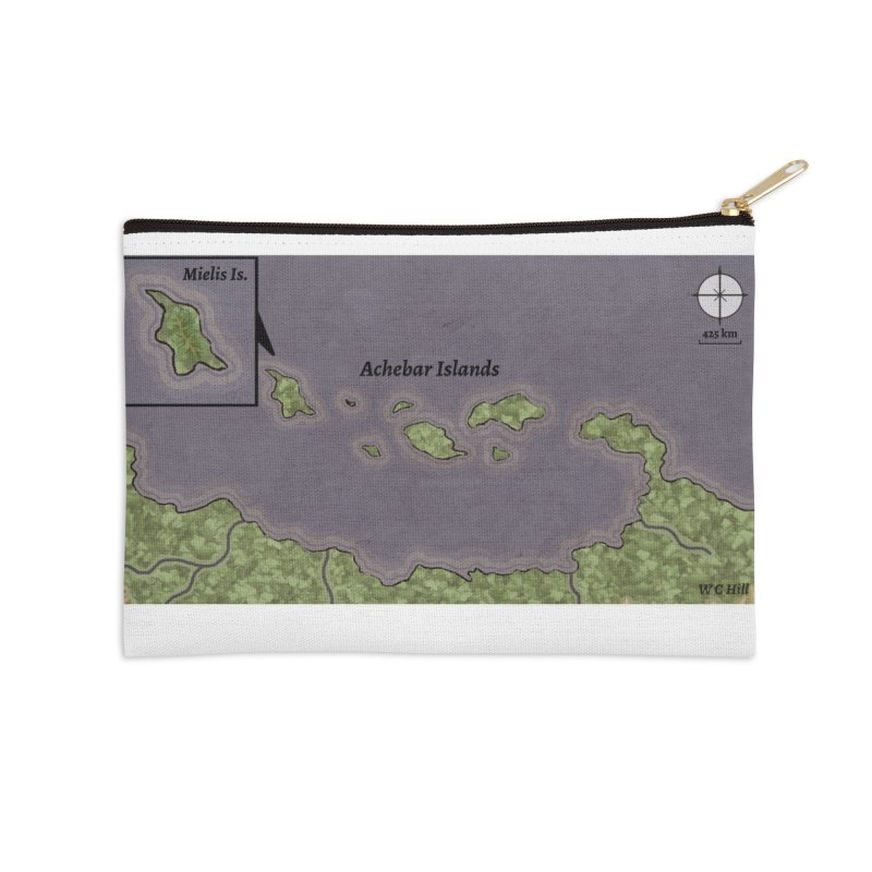 Achebar Islands Accessories Zip Pouch by wchwriter's Artist Shop