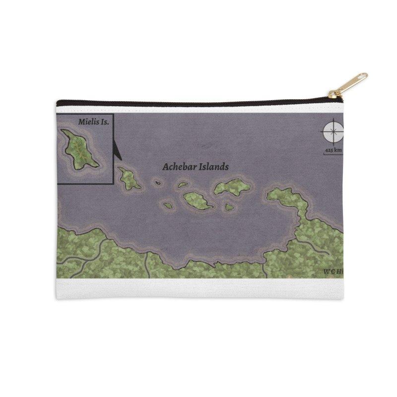 Achebar Islands Accessories Zip Pouch by wchwriter's Artist Shop