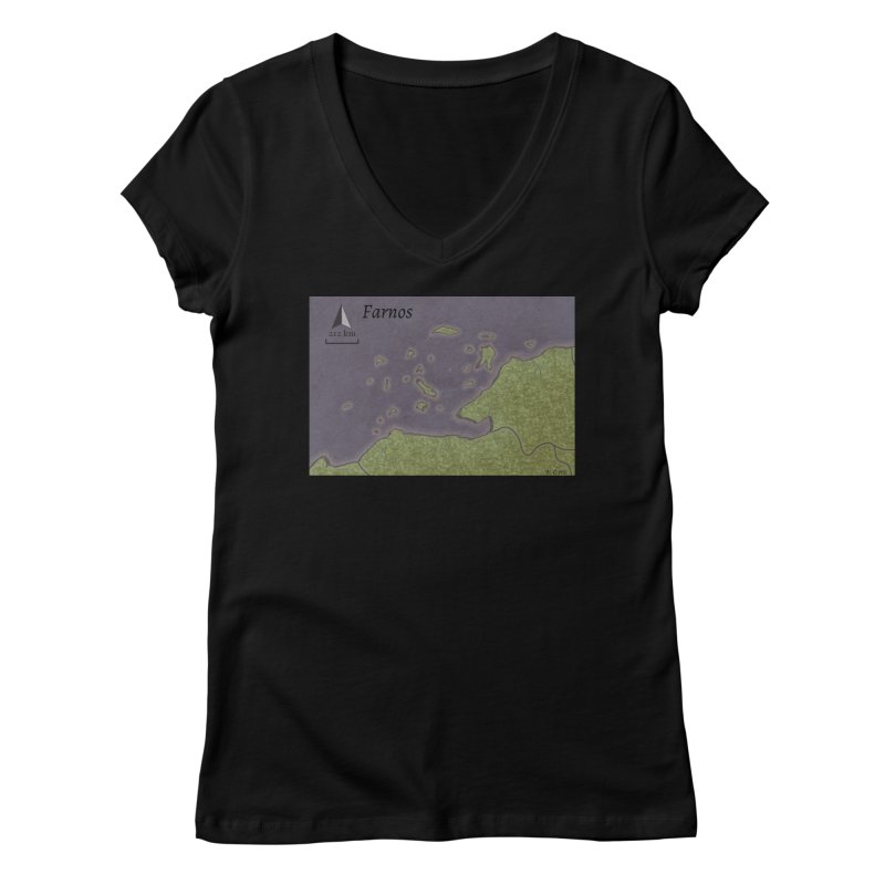 Farnos Women's V-Neck by wchwriter's Artist Shop