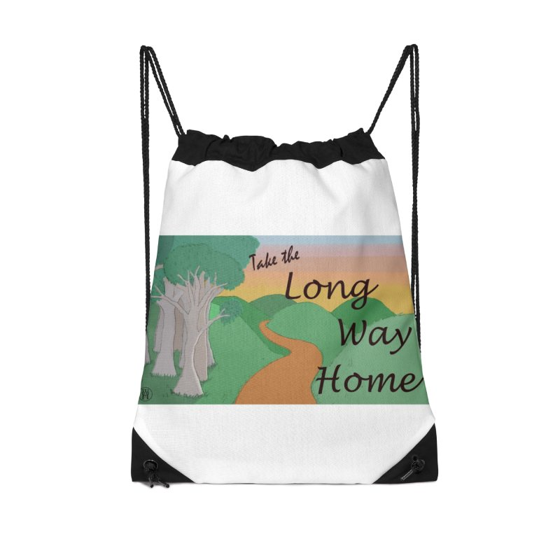 Take the Long Way Home Accessories Drawstring Bag Bag by wchwriter's Artist Shop