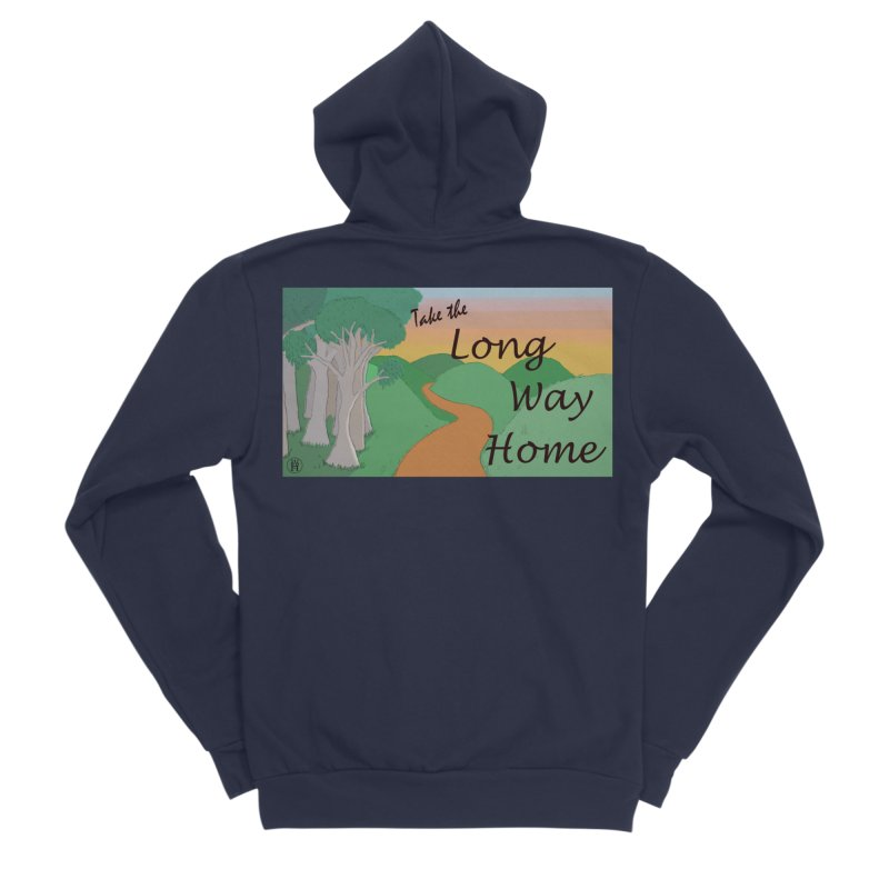Take the Long Way Home Men's Sponge Fleece Zip-Up Hoody by wchwriter's Artist Shop