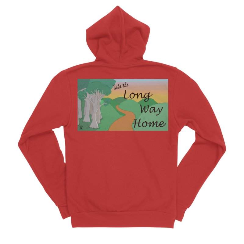 Take the Long Way Home Men's Zip-Up Hoody by wchwriter's Artist Shop