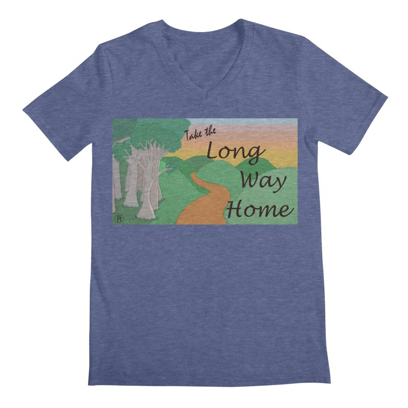 Take the Long Way Home Men's Regular V-Neck by wchwriter's Artist Shop
