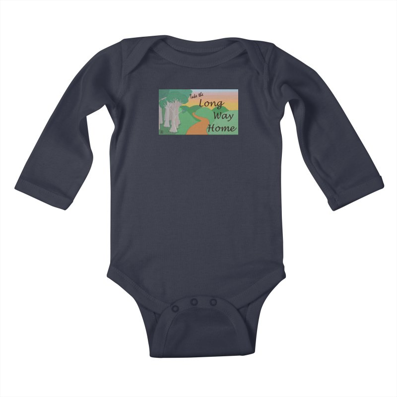 Take the Long Way Home Kids Baby Longsleeve Bodysuit by wchwriter's Artist Shop